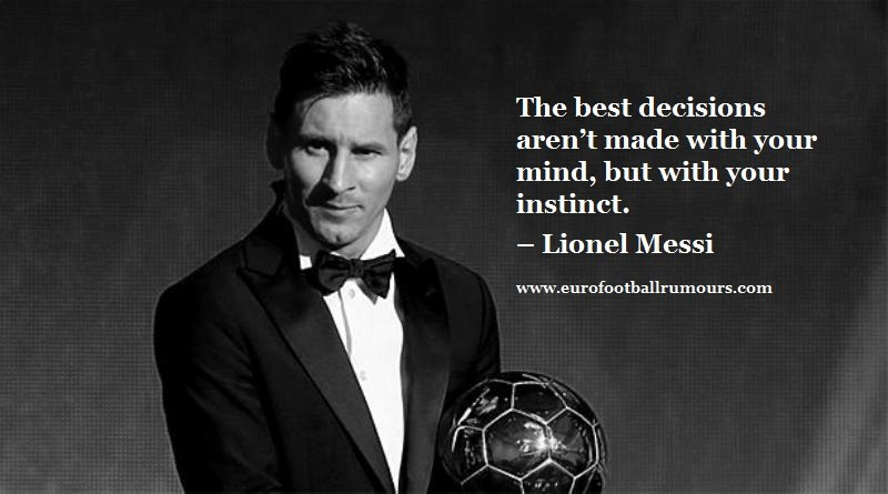 Football Quotes 19 - Lionel Messi